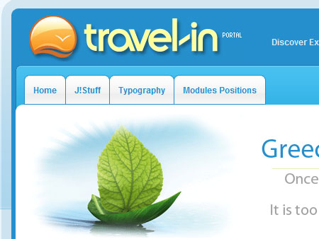 BT Travel In - шаблон туристической тематики для Joomla