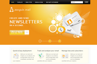 GK Penguin Mail - шаблон Joomla 2.5